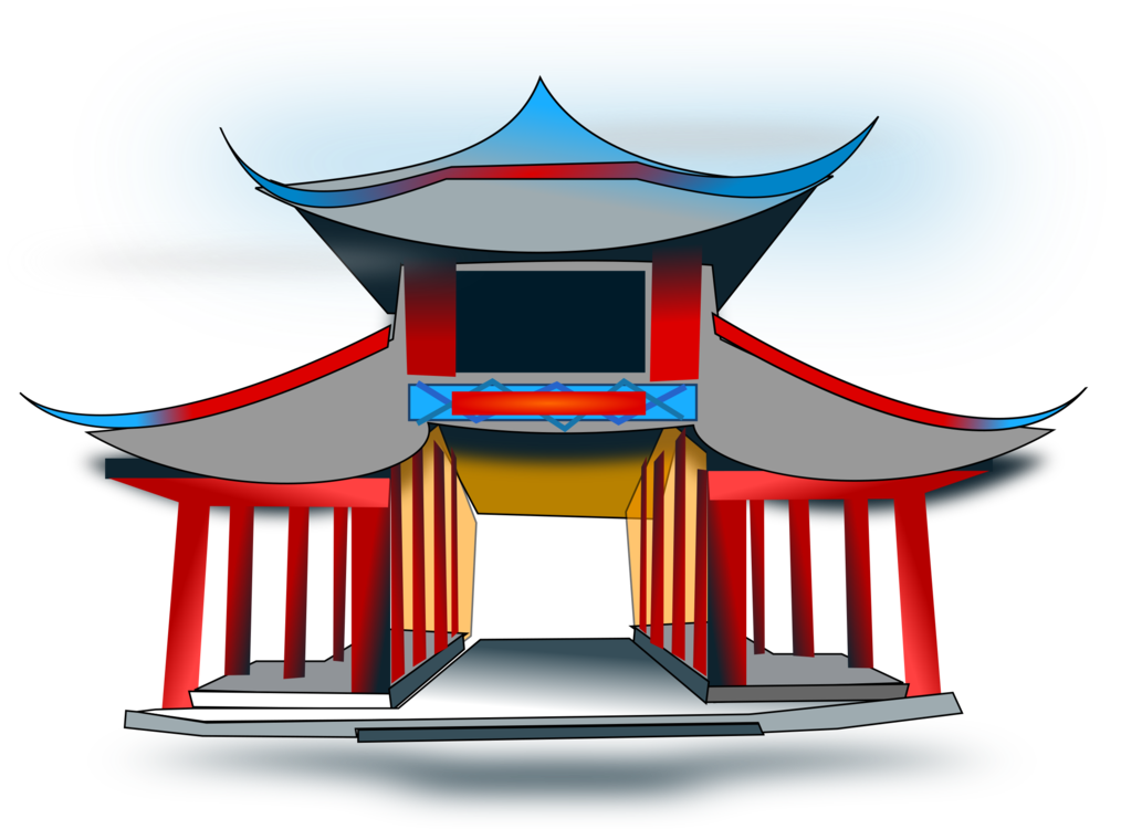 clip art black and white stock Chinese temple architecture Chinese pagoda China Buddhist temple