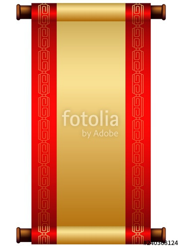 image China vector scroll. Chinese illustration with place