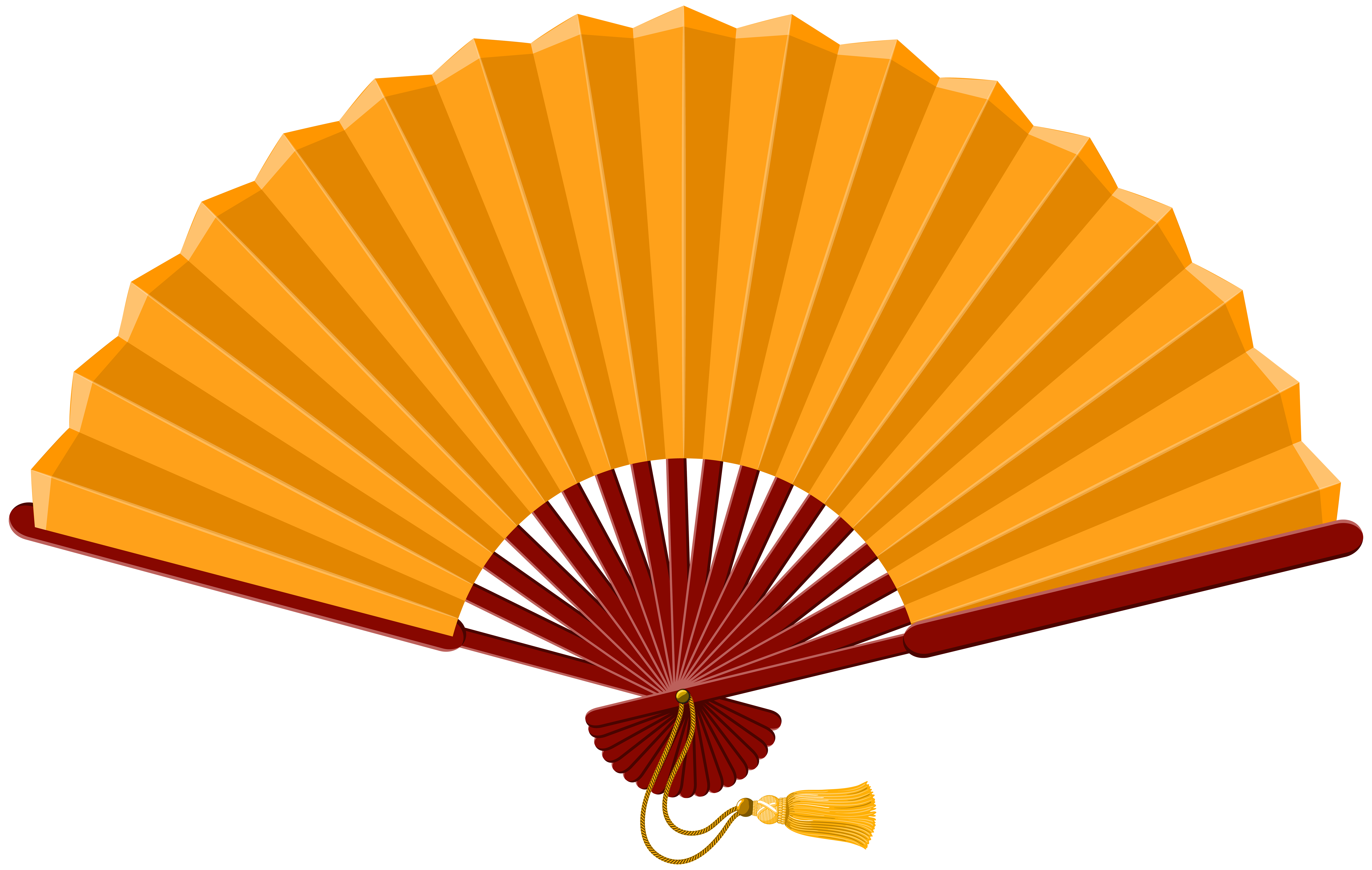 vector black and white stock Chinese png clip art. Fan clipart.