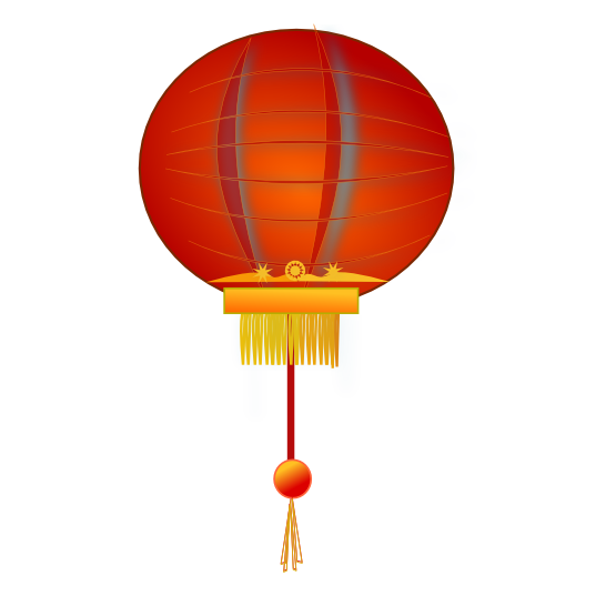 banner library stock Chinese lantern clip art