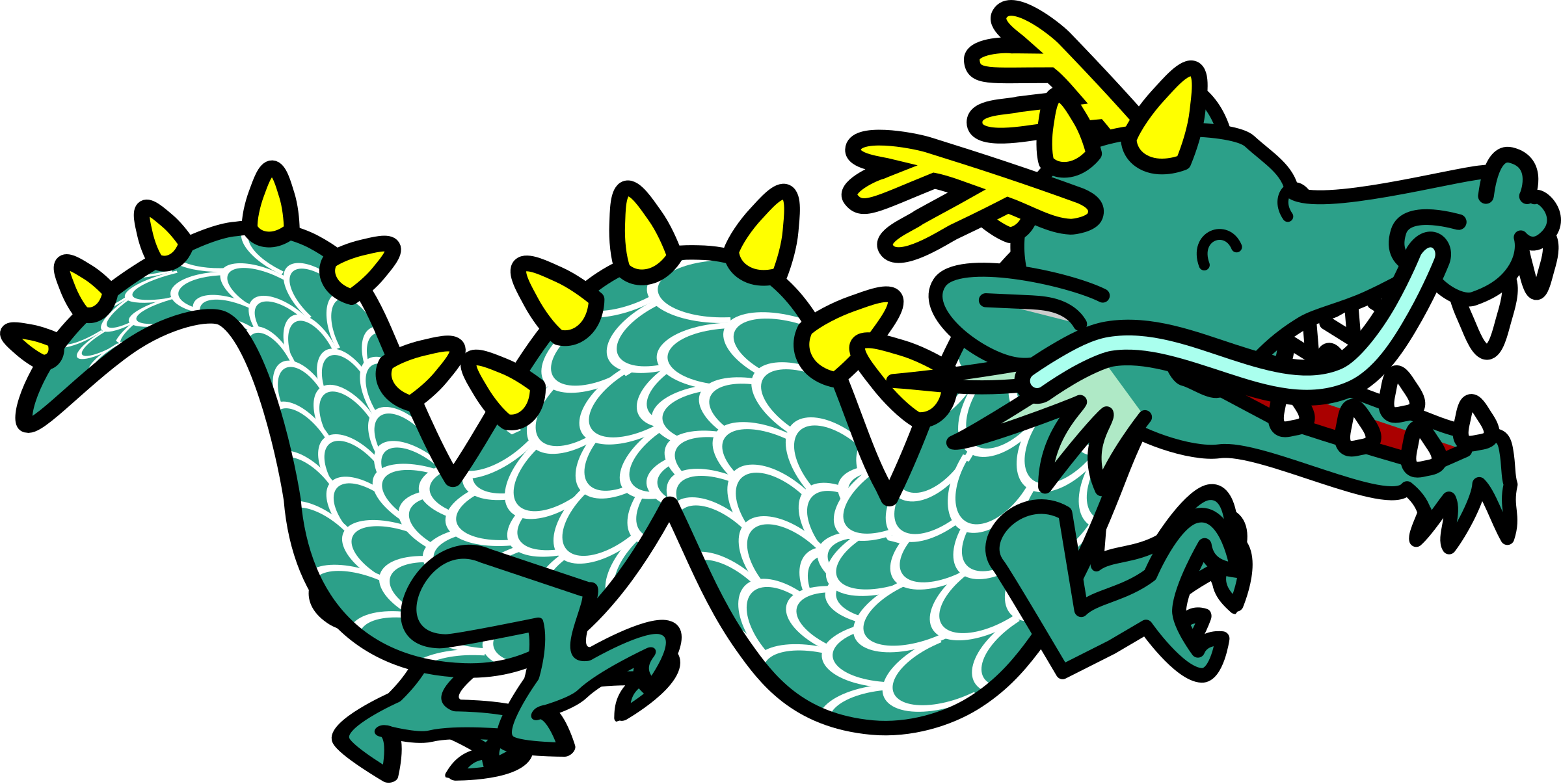banner transparent Black and white excellent. Chinese clipart long dragon