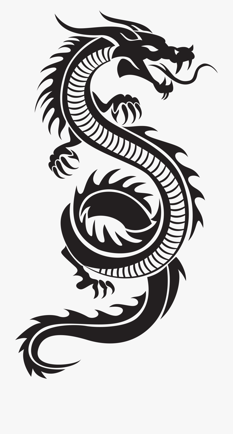 svg Chinese clipart long dragon. Silhouette png