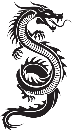 clip free library Silhouette png clip art. Chinese clipart long dragon