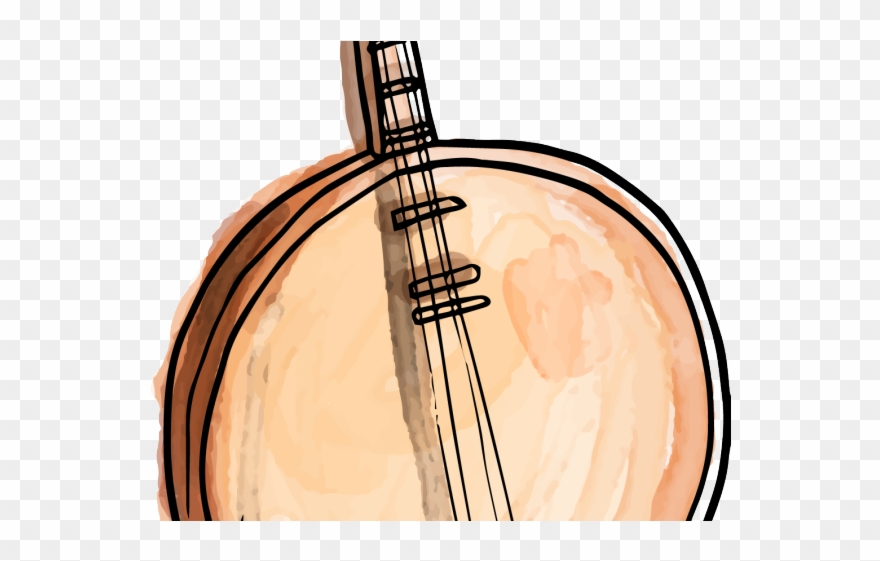 graphic black and white library Classical traditional string . Chinese clipart music chinese.