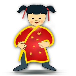 picture royalty free download Chinese clipart. Girl clip art at