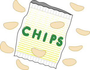 graphic chip clipart bad food #28240042