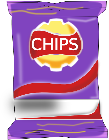 royalty free Chips Packet Clip Art at Clker