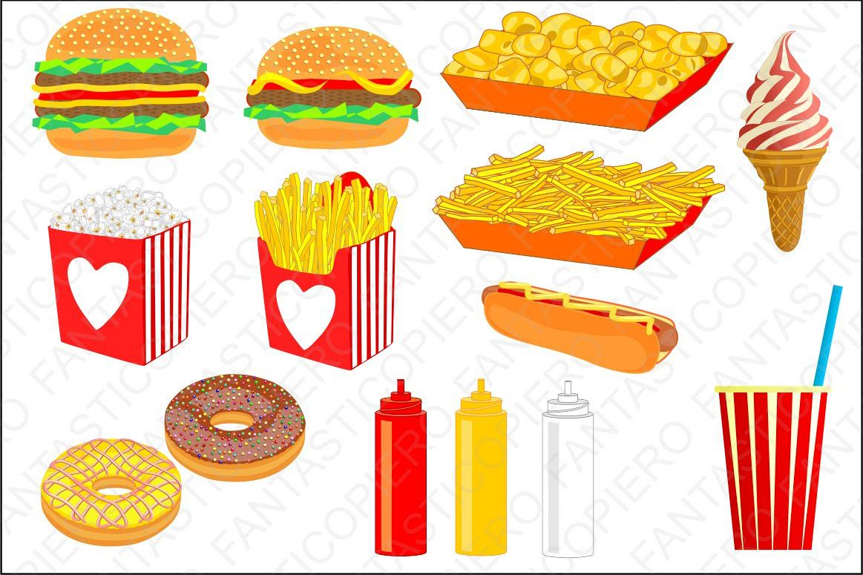 vector transparent stock Cclipart hamburger chips popcorn. Chip clipart fast food.