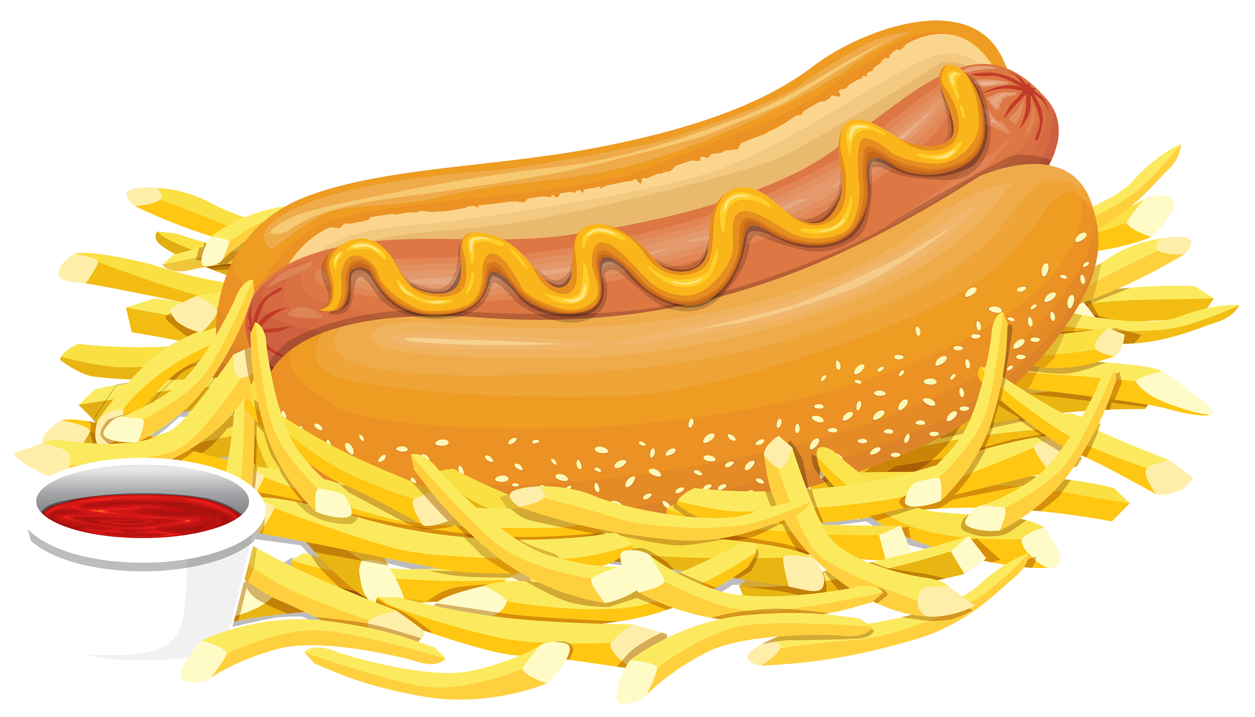 banner library Hot dog with png. Clipart ketchup
