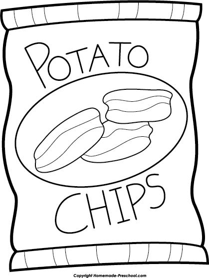 black and white download Potato chip bag black. Chips drawing