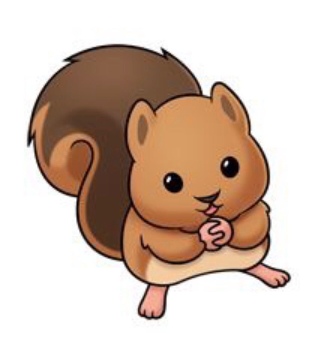 clip art library library Chipmunk clipart cute drawing. Baby squirrels animal kawaii