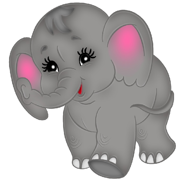 clipart free stock Brown baby elephant clip. Chipmunk clipart cute drawing