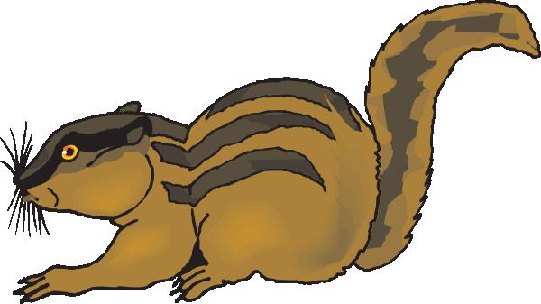 image Startled Chipmunk Clip Art at Clker