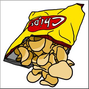 image freeuse Chips clipart. Clip art potato color.