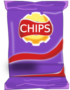 clip transparent Chips clipart. Packet clip art at