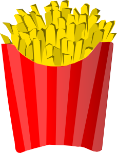 image royalty free stock French fries clip art. Chips clipart fry mcdonalds.