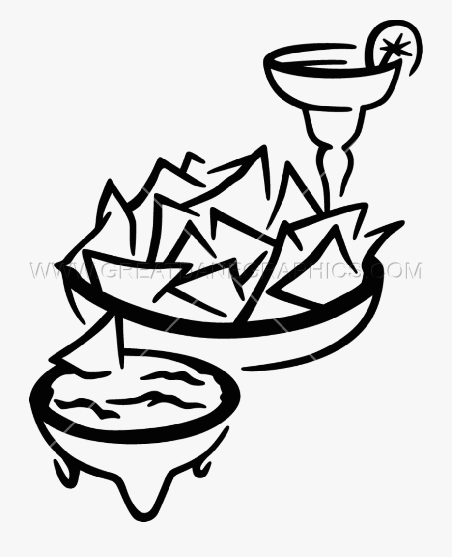 image royalty free library Chips drawing transparent. Snack chip salsa for