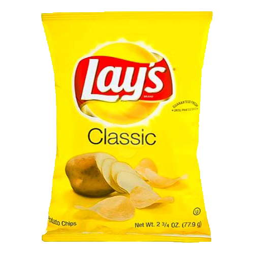 graphic Lay s classic potato. Chips drawing transparent