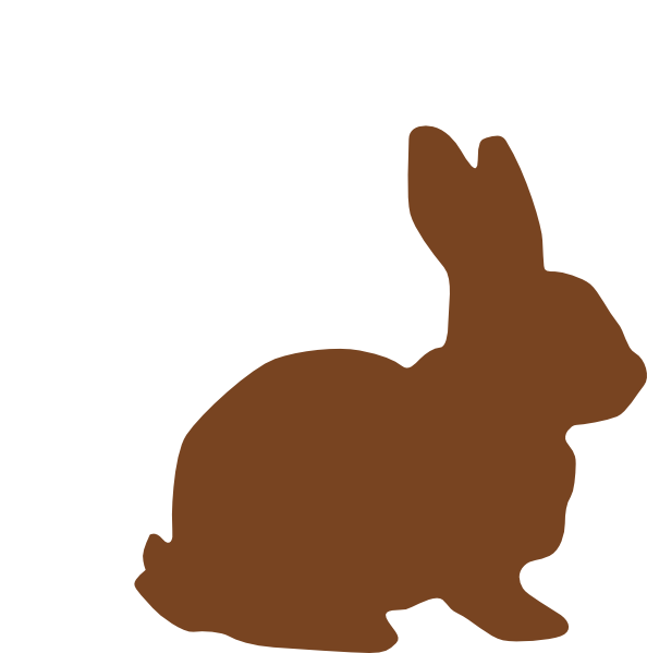 svg freeuse stock Chocolate Easter Bunny Clip Art at Clker