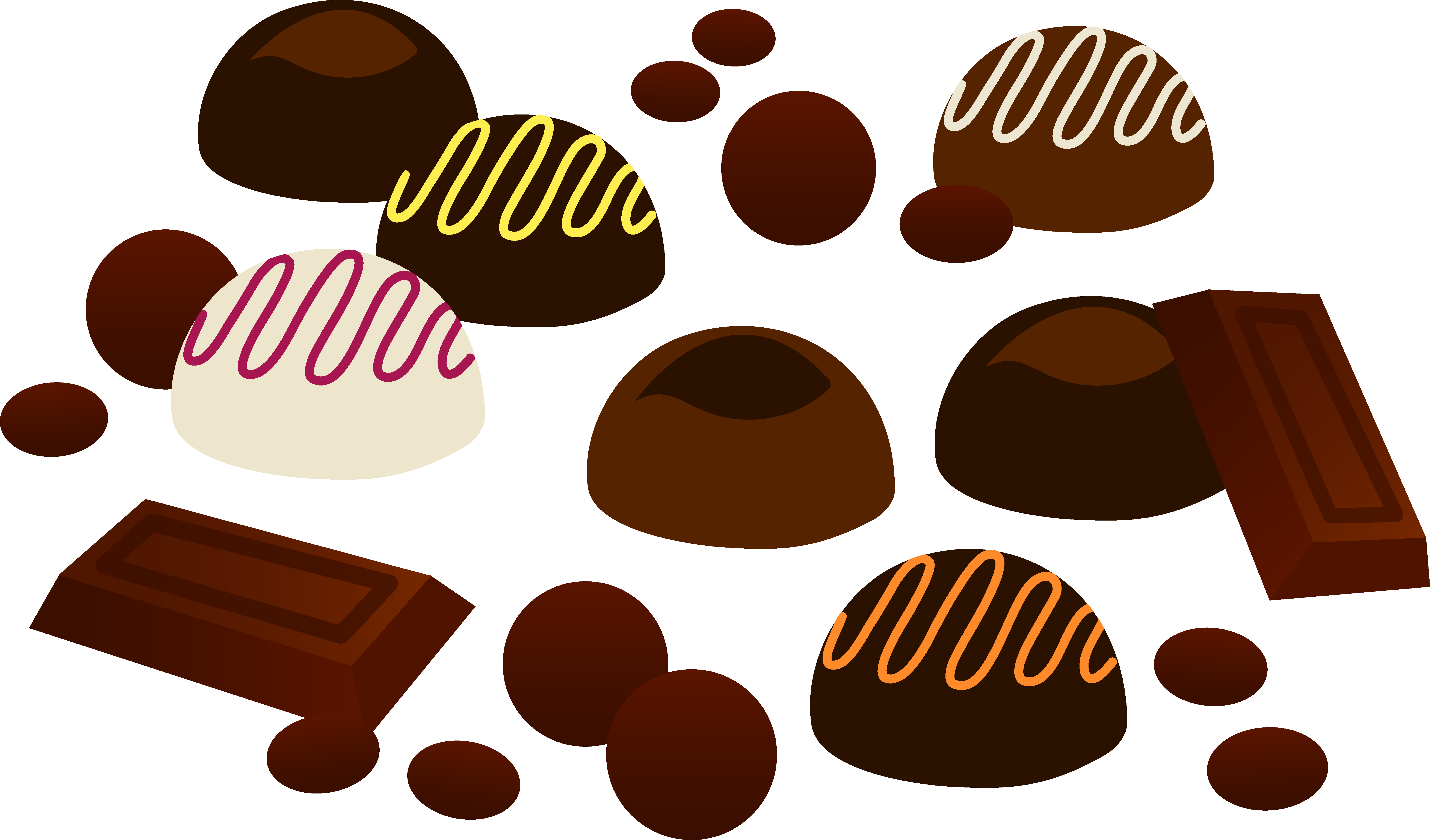vector transparent download Vector candy dessert. Chocolate clipart