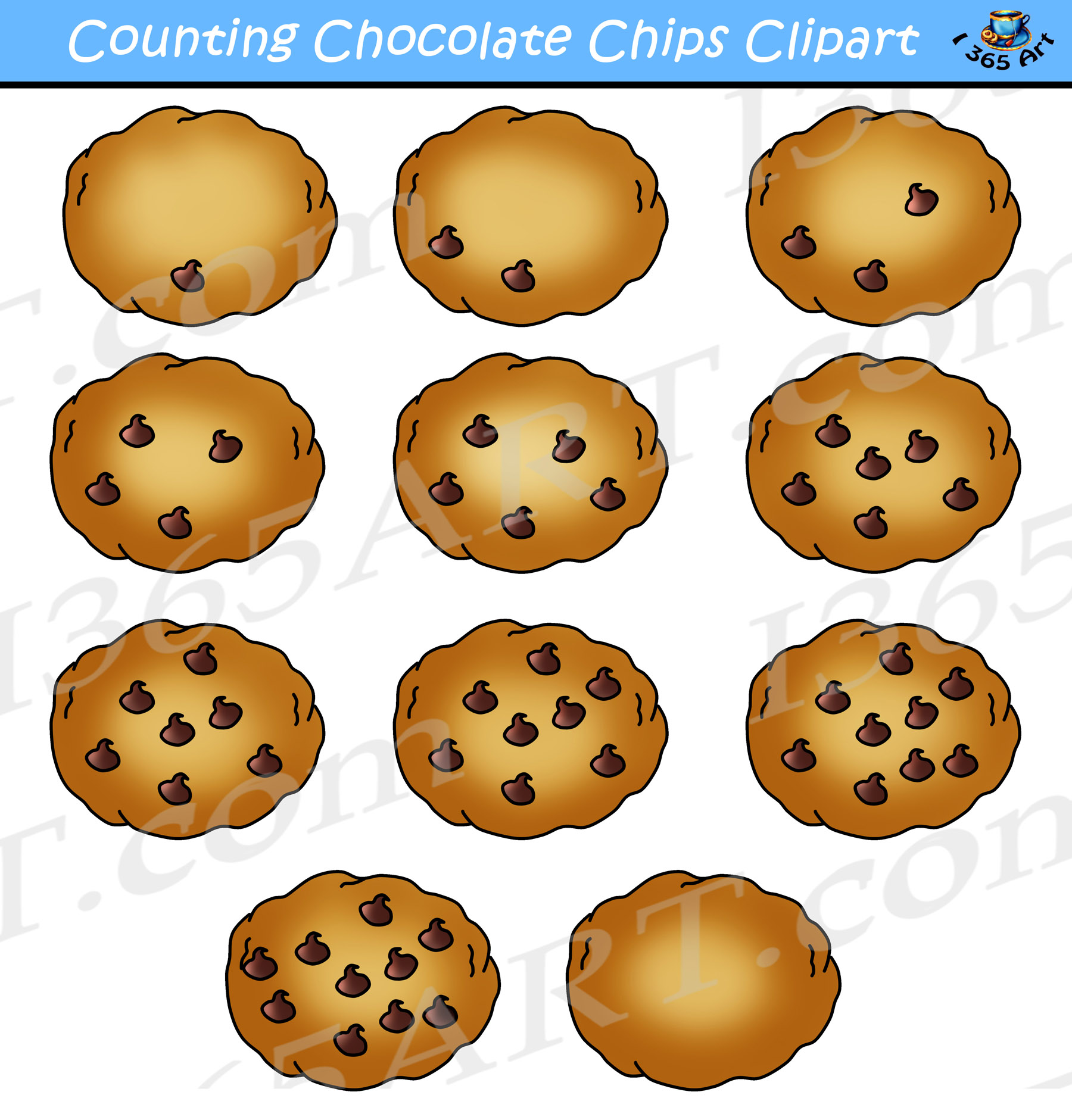 clip royalty free Chocolate chip cookies clipart. Counting commercial use