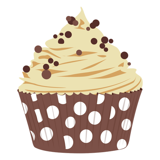 image transparent library Chocolate chip cupcake illustration