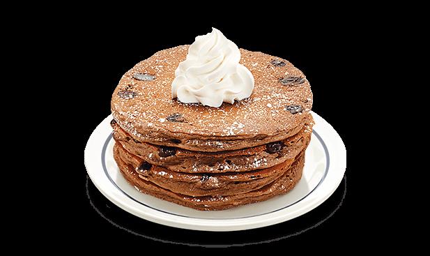 vector black and white stock Pancake clipart chocolate chip pancake
