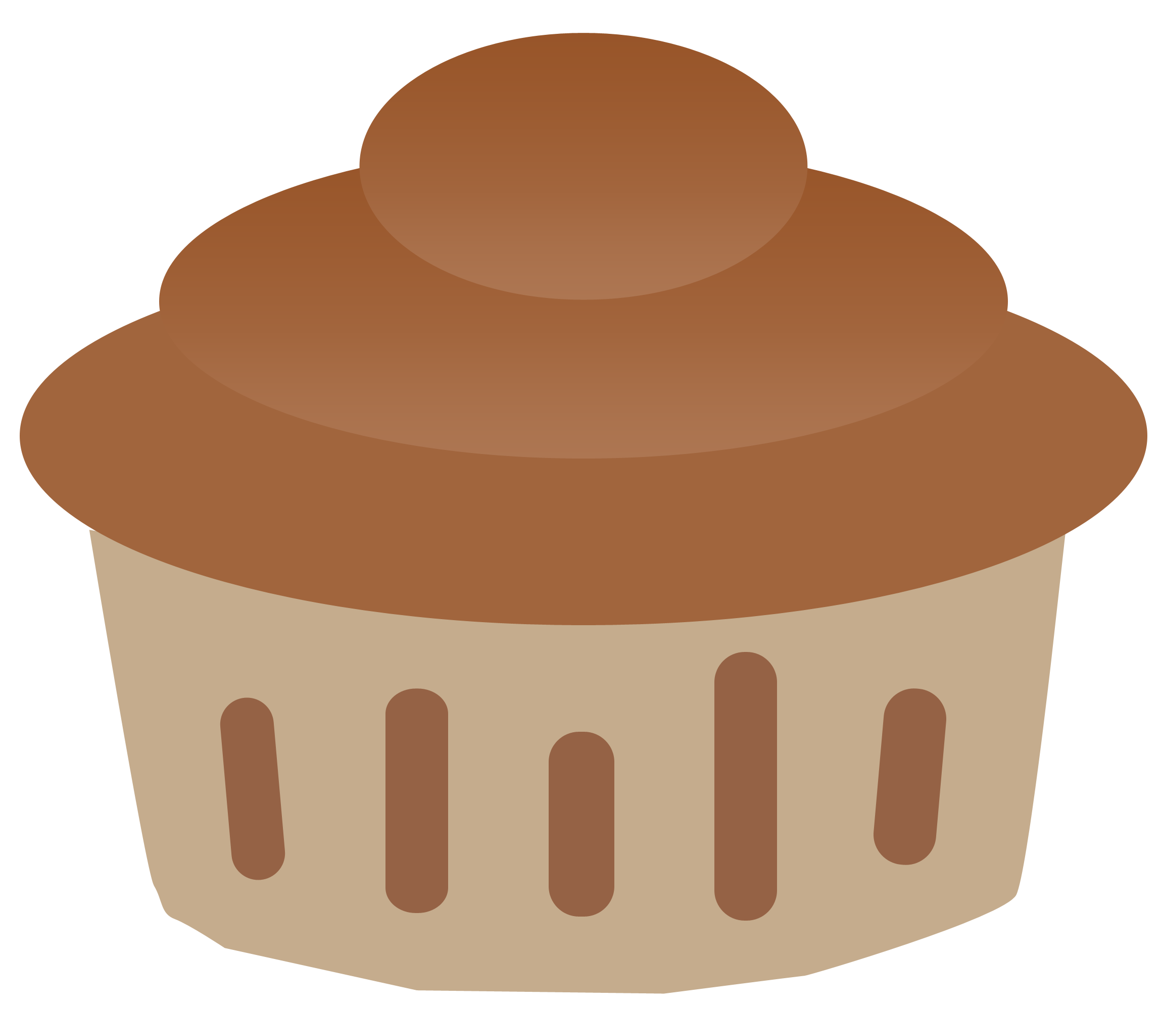 picture transparent download Vanilla and Chocolate Cupcake Clipart