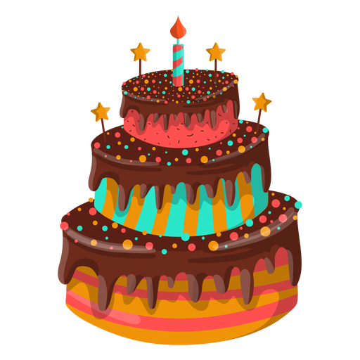 picture free stock Chocolate transparent birthday. Cake illustration png svg
