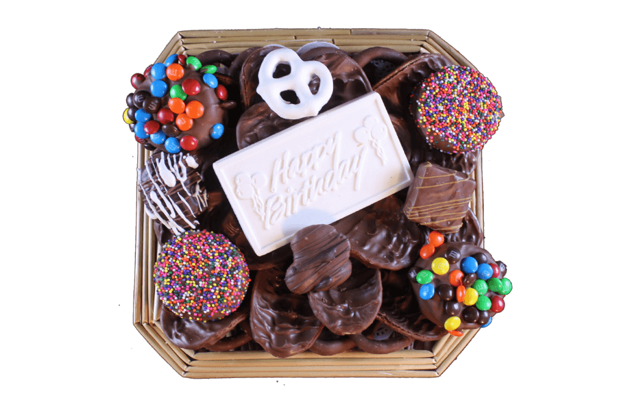 svg black and white Assorted lb basket . Chocolate transparent birthday