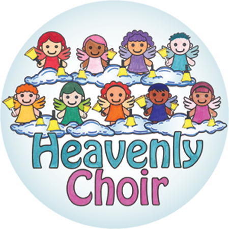 svg free download Choir clipart angels choir. Handbell world buttons heavenly.