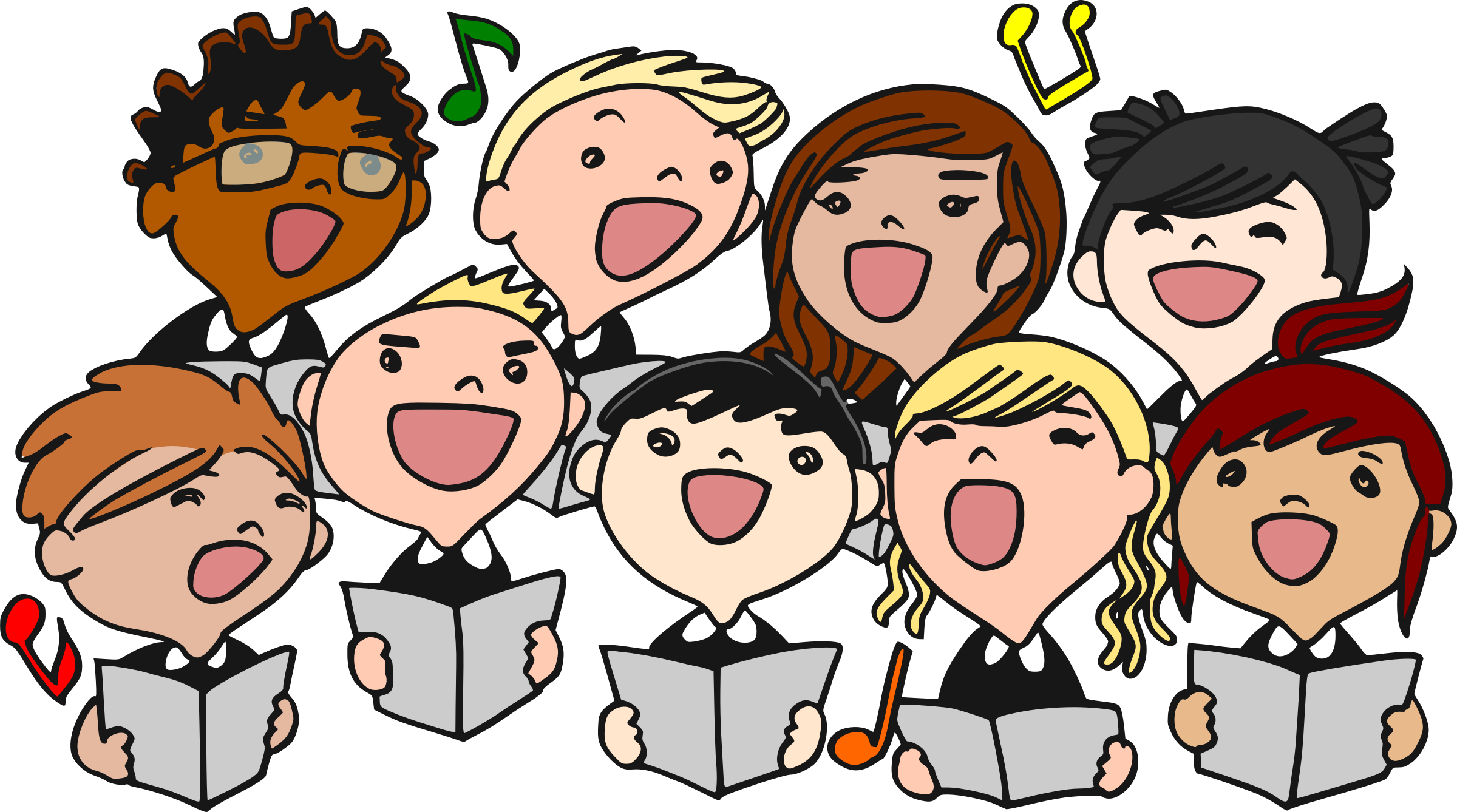 freeuse download Chorus clipart vocal music. Singer kid band pencil.