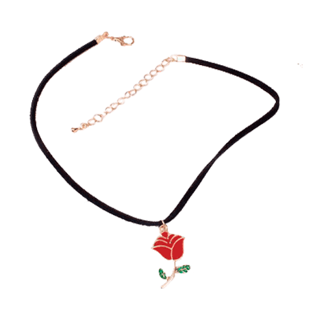 picture freeuse stock itGirl Shop ACRILIC RED ROSE NECKLACE CHOKER Aesthetic Apparel