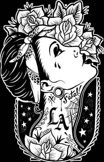 image free download latina hispanic cholo tattooed girl roses LA