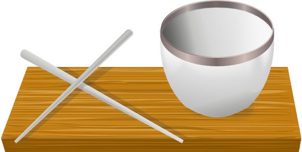 graphic library Rice bowl with clip. Chopsticks clipart cartoon.