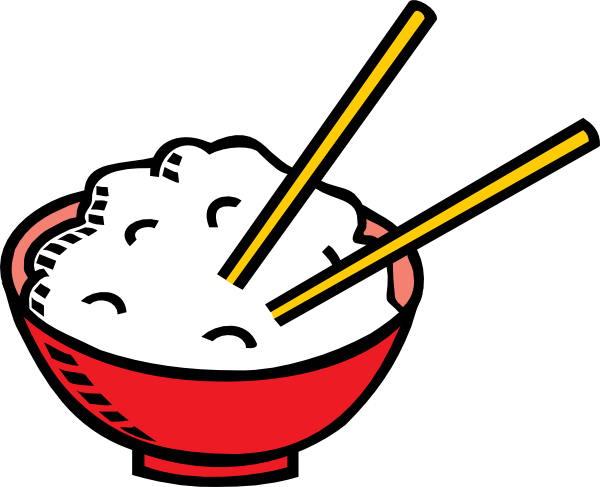 png library download Bowl of rice and. Chopsticks clipart cartoon.