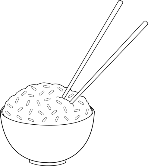 clip library library Line art of with. Chopsticks clipart chopstick rice