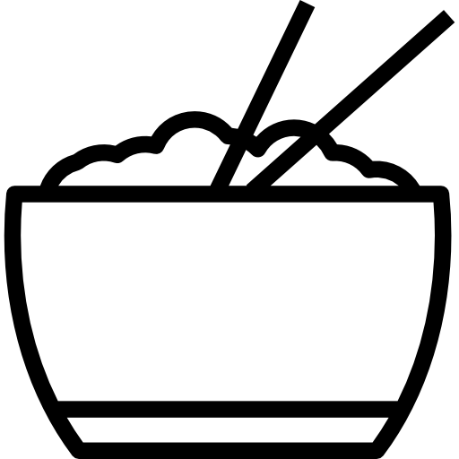 picture free download Food asian black icon. Chopsticks clipart chopstick rice