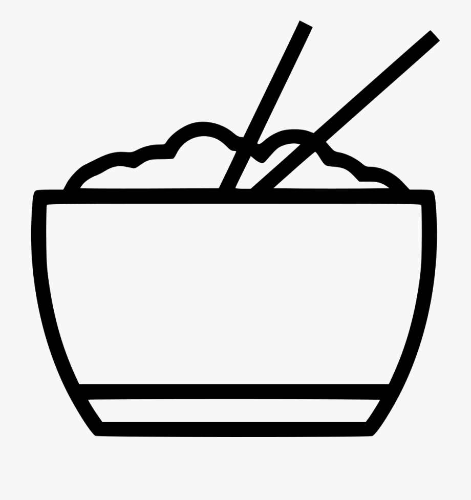 svg library download Chopsticks clipart drawing. Plate rice food in.