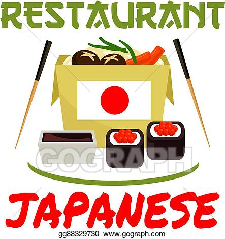banner freeuse Vector stock icon sushi. Chopsticks clipart restaurant japanese.
