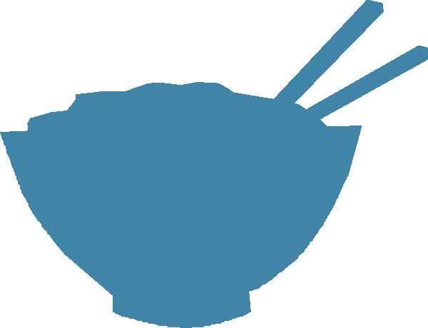 svg stock Chopsticks clipart vector. Blue bowl clip art.