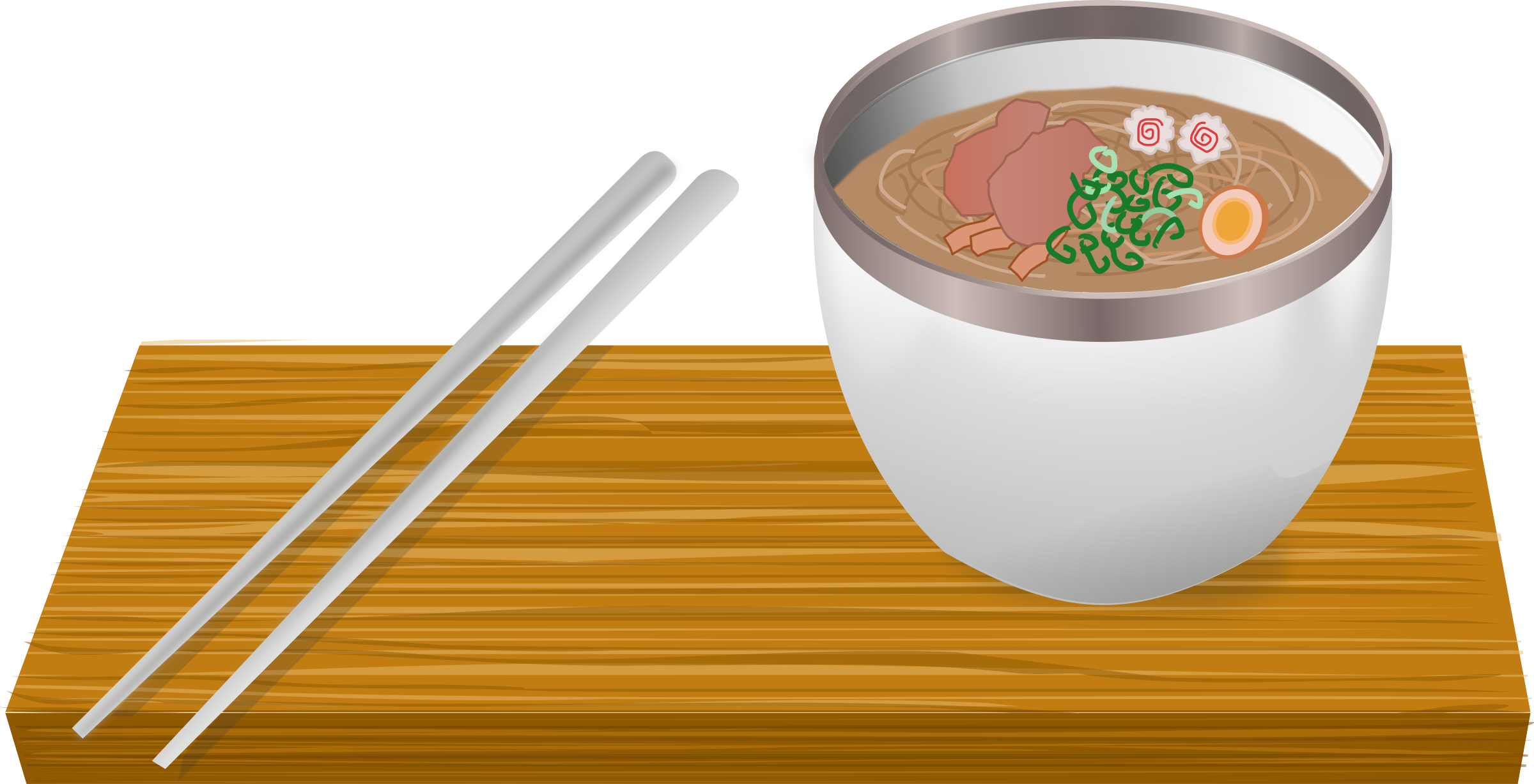 banner Ramen bowl big image. Chopsticks clipart vector.