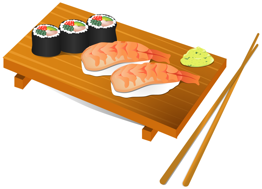 clipart library download Sushi group clip art. Chopsticks clipart vector.