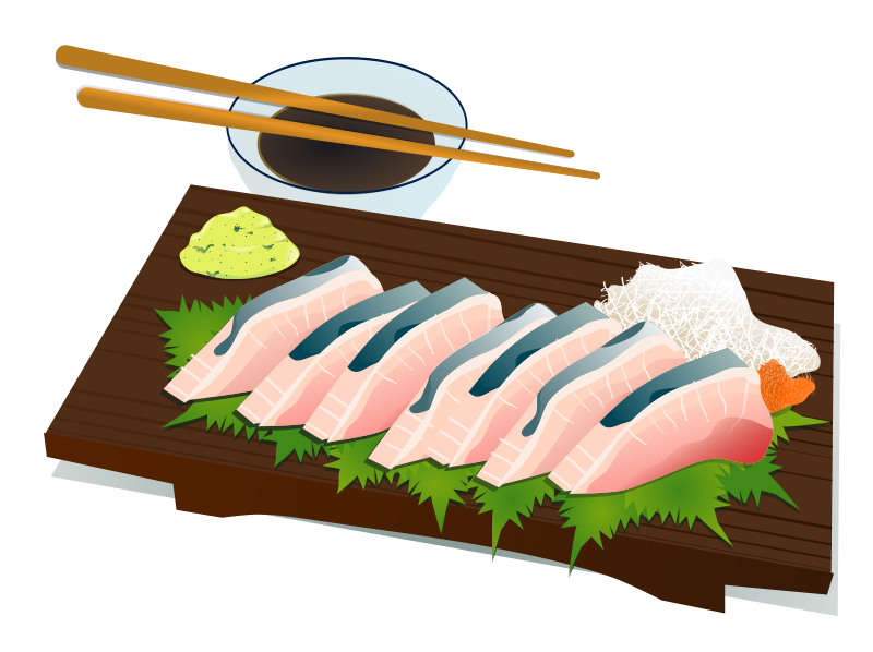 banner black and white download Chopsticks clipart vector. Sashimi free images at.