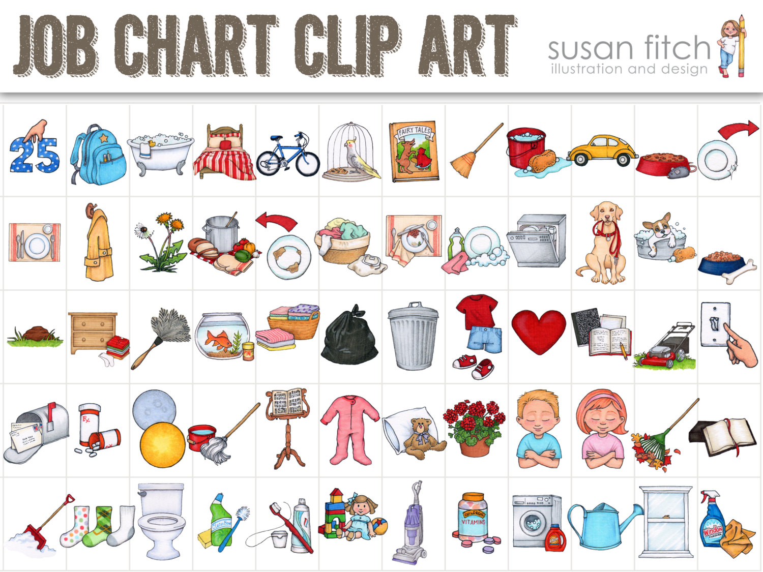 jpg black and white Free chores cliparts download. Chore clipart