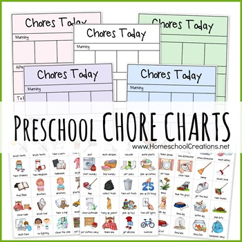 freeuse Preschool charts . Chore clipart 5 year old.
