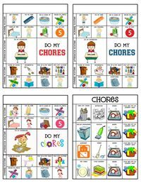 banner transparent download Chore clipart 5 year old.  chart printable teaching.
