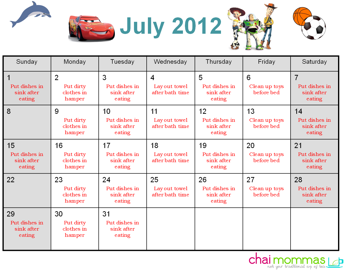 clip royalty free chore chart