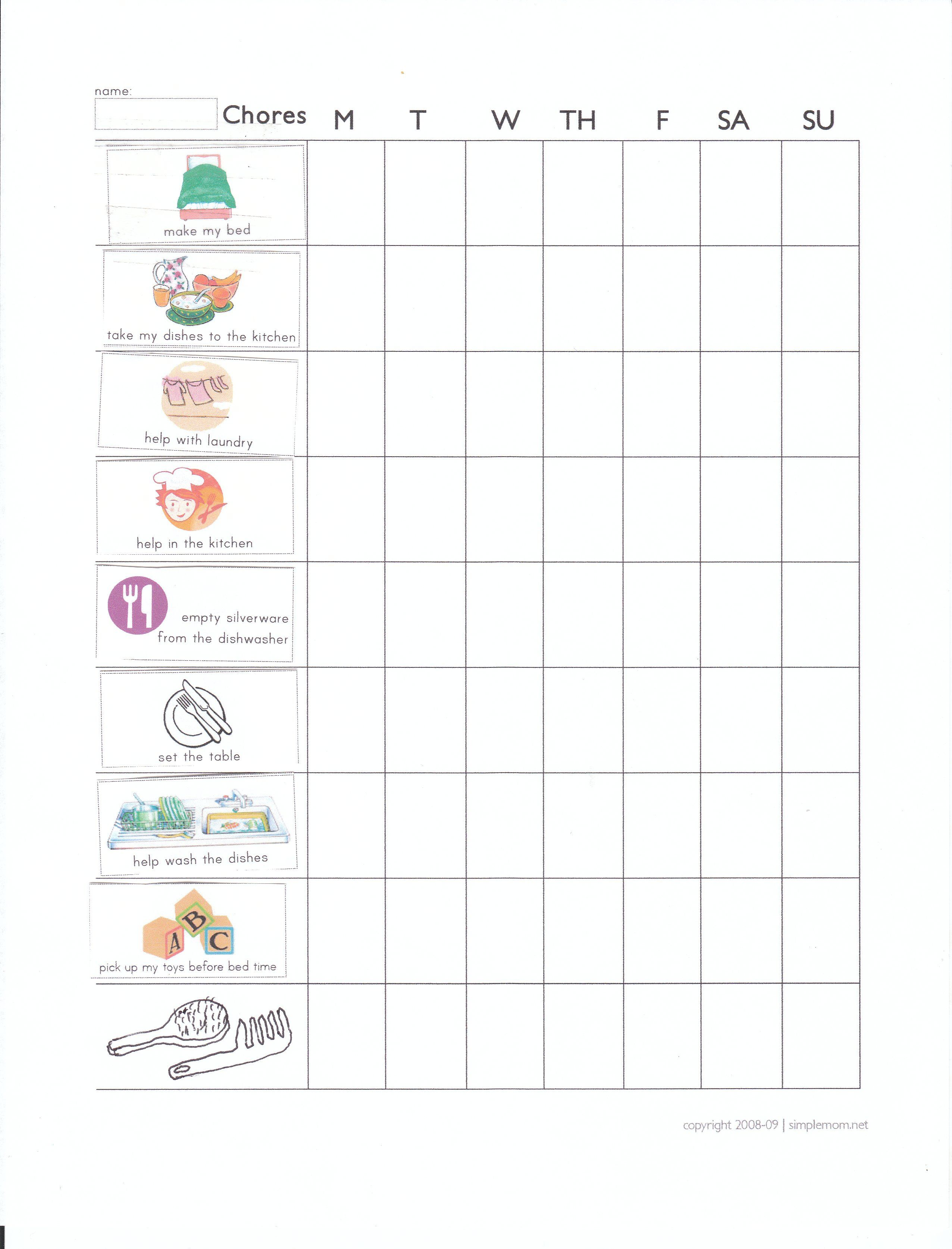 picture royalty free stock Chore clipart 5 year old. Chart for olds supermom.