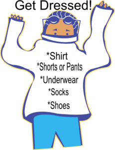 freeuse stock Chore clipart. Get dressed clip art